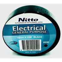 Nitto Electrical Tape 203E BLACK Single Roll