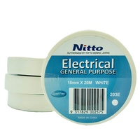 Nitto Electrical Tape General Purpose WHITE - Single Roll