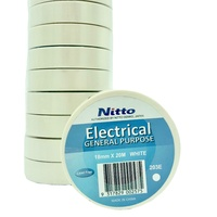Nitto General Purpose Electrical Tape WHITE Pack of 10