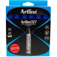 Artline Whiteboard Marker Box of 12 BLUE